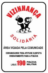 Placa Vizinhança Solidaria